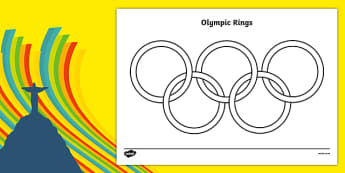 The Olympic Rings Colouring Sheet - Olympics, Olympic Games, sports, Olympic, London, 2012, colouring, fine motor skills, poster, worksheet, vines, A4, display, Olympic torch, flag, countries, medal, Olympic Rings, mascots, flame, compete, tennis, at