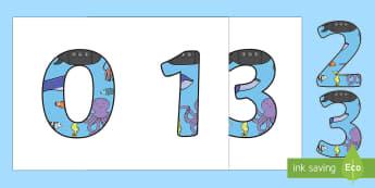 Números de exposición: Bajo el mar - Bajo el mar, proyecto, contar, numeros iniciales, P3, P4, P5, sumar, restar,