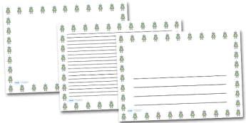 Robot Landscape Page Borders- Landscape Page Borders - Page border, border, writing template, writing aid, writing frame, a4 border, template, templates, landscape