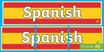 Spanish Display Banner - MFL, Spanish, Modern Foreign Languages, Spanish numbers, foundation, languages, display, Espanol, numeracy, banner, display