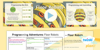 PlanIt D&T Upper KS2 - Programming Adventures Lesson Pack Floor Robots - Lesson 1  - adventure, map, Floor robot, Bee Bot, input, output, Select from and use a wider range of materials