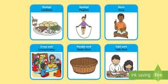 SEN Visual Timetable for School Afrikaans/English - SEN Visual Timetable for School - sen visual timetable, school visual timetable, simple visual timet