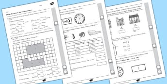 Year 4 Maths Assessment Measurement Term 1 - measuring, assessments