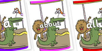 100 High Frequency Words on Trick 3 to Support Teaching on The Enormous Crocodile - High frequency words, hfw, DfES Letters and Sounds, Letters and Sounds, display words