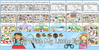 I Spy With My Little Eye Activity Pack - activity, pack, I spy