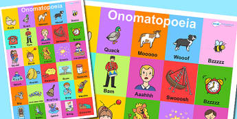 Onomatopoeia Display Poster - onomatopoeia, poster, display