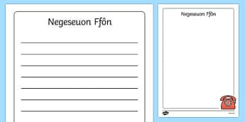 Negeseuon Ffôn Doctor's Surgery Telephone Messages Welsh - welsh, cymraeg, Doctors surgery role play, doctor, nurse, surgery, role play, doctors role play, people who help us role play, people who help us, Display signs, display