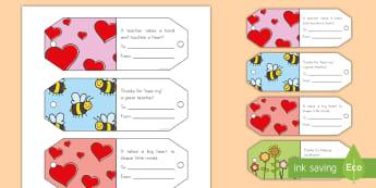 Teacher Appreciation Mini Gift Tags - Teacher Appreciation Week, Teacher Appreciation, Teacher gift card, Teacher appreciation cards, mini