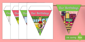 Our Birthdays Display Bunting - Australia, birthday, our birthdays, birthday display, bunting, display