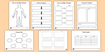 Writing Templates KS1 - graphic organiser, pack, resource pack, graphic, organiser