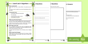 Lizard Lad: A Superhero Differentiated Reading Comprehension Activity