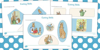 The Tale of Peter Rabbit Cutting Skills Worksheet - peter rabbit, cutting skills