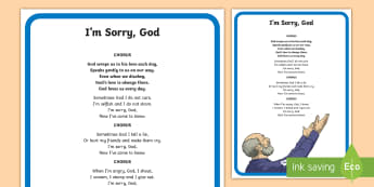 I'm Sorry God Song Lyrics - ROI - Hymns and Religious Songs,Music,Hymns,Communion,Confirmation,First Confession,Confession,First