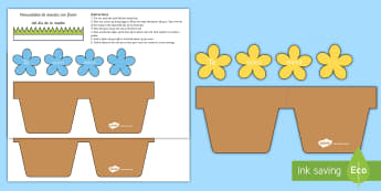 Mother's Day Flowers in Pot Card Craft - Spanish - Spanish, KS2, vocabulary, mother's, day, flowers, pot, card, craft, template - Spanish, KS2, vocabulary, mother's, day, flowers, pot, card, craft, template