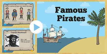 Famous Pirates PowerPoint - pirates, famous pirates, pirates powerpoint, famous pirates presentation, william kidd, blackbeard, anne bonny, information, black beard