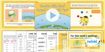 PlanIt Spelling Year 5 Term 3A W5: Words With an /ear/ Sound Spelt ere Spelling Pack - Spellings Year 5, spell, Y5, SPag, GPS, lists, weekly, week, pack, spelling, ear, ere