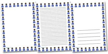 Irritated boy Portrait Page Borders- Portrait Page Borders - Page border, border, writing template, writing aid, writing frame, a4 border, template, templates, landscape