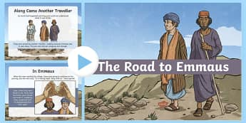 The Road to Emmaus PowerPoint, bible story PowerPoint,