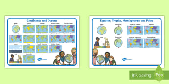 Parts Of My Planet Word Mat Resource Pack - Australian Curriculum, HASS, The way the world is represented in geographic divisions and the locati