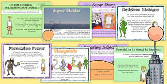 Challenge Posters to Support Teaching on James and the Giant Peach - stories, roald dahl