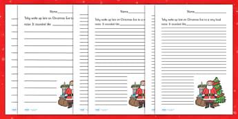 Christmas Story Starter Father Christmas - christmas, xmas, story, christmas story, christmas story starter, story starter, story starter about father christmas, saint nocholas, writing, writing aid, creative writing, literacy, writing prompt