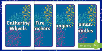 IKEA Tolsby Editable Firework Class Group and Table Signs