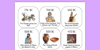Ancient Greece Timeline Ordering Activity - ancient greeks, order