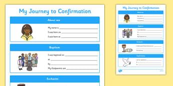 My Journey to Confirmation Activity Sheet-Irish, worksheet