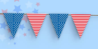 Stars and Stripes Bunting - stars, stripes, bunting, display
