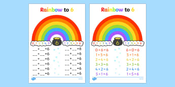 Rainbow to 6 Activity - displays, posters, visual aids