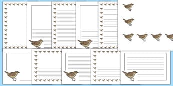 Nightingale Themed Page Borders - nightingale, themed, page borders, page, borders
