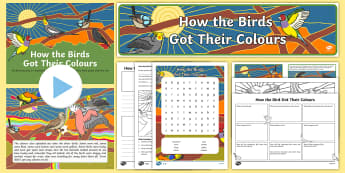 Aborginal Dreamtime How the Birds Got Their Colours Activity Pack-Australia