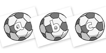 Phase 2 Phonemes on Footballs - Phonemes, phoneme, Phase 2, Phase two, Foundation, Literacy, Letters and Sounds, DfES, display