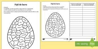 Colorează oul de Paște Una sau mai multe? - Romania Easter, Paști, Pasti, Paste, Paște, ou, ouă, iepuraș, joc, singular, plural, eu spun una