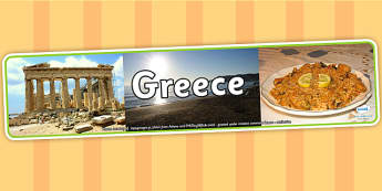 Greece Photo Display Banner - Greece, Display Banner, Greek Banner, Greek Display, Greek Display Banner, Themed Banner, Greece Themed, Photo Banner