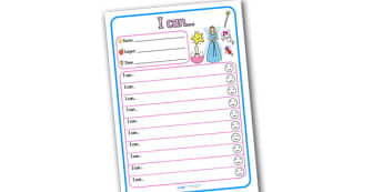 Themed Target and Achievement Sheets Fairies Themed I Can - Target and Achievement Sheet, I Can Sheet, Target Sheet, Fairy Themed
