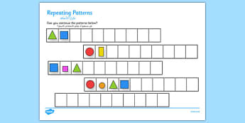 Repeating Patterns Shapes and Colours Arabic Translation - arabic, repeating, patterns, shapes, colours