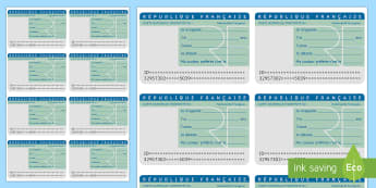 Introduction Labels French - French, labels, sticky, writing, personal identification, ID, introductions, greetings, name. ,Frenc