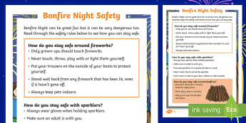 KS1 Bonfire Night Safety Differentiated Fact File