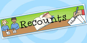 Recounts - Display Banner - Classroom Banners Primary Resources, Banners, Classroom Signs