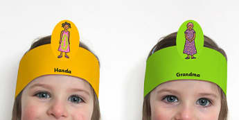 Handas Hen Role Play Headbands - roleplay, props, story books