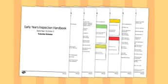Early Years Inspection Handbook September 2015 Part 2 Evaluation Schedule - slt, smt, senior, leader, leadership, management, team, notes, information, guide, detail, record, explain, write, evaluate,
