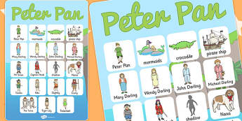 Peter Pan Vocabulary Poster - posters, displays, display, tales