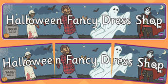 Halloween Fancy Dress Shop Role Play Banner - halloween, fancy dress shop, role play, banner, role play banner, fancy dress shop role play, roleplay