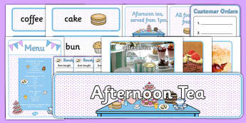 Afternoon Tea Role Play Pack - afternoon tea, afternoon, tea, role play, pack