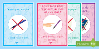 French Target Language Display Posters - Back to School, French, target language, key phrases, speaking,French