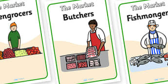 The Market Role Play Signs - the market, role play, signs, the market signs, the market role play, signs for the market, signs for role play
