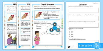 KS1 Fidget Spinners Differentiated Go Respond Activity Sheets -  computer, tablet, ks1 toys ict, ks1 ict, ks1 ICT, ks1 fidget spinners, fidget spinners, fidget spin