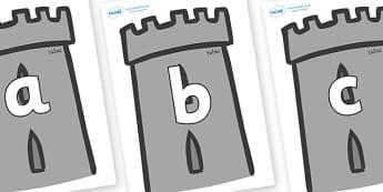 Phoneme Set on Turrets - Phoneme set, phonemes, phoneme, Letters and Sounds, DfES, display, Phase 1, Phase 2, Phase 3, Phase 5, Foundation, Literacy