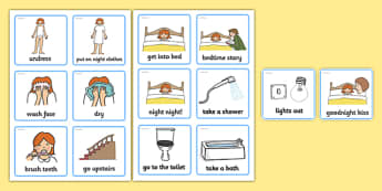 Visual Timetable (Getting Ready For Bed) - getting ready for bed, bed, bedtime, Visual Timetable, SEN, Daily Timetable, School Day, Daily Activities, Daily Routine KS1, good night, bedtime story, brush teeth